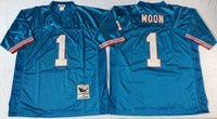 Wholesale 1 Warren Moon Steve McNair Earl Campbell Matthews College Football Jerseys Blue and white