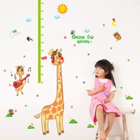 bathroom height - 60 cm New Giraffe Kids Height Growth Charts Wall Stickers DIY Art Decal Removeable Wallpaper Mural Sticker SK9114