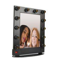 Wholesale Hollywood aluminum aluminium table desktop wall mounted cosmetic makeup vanity mirror with lights