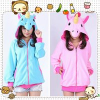 Wholesale Hot Women s Cute Unicorn Animal Hoodie Sweatshirt Jacket Long Sleeves with Hat Size S M L XL