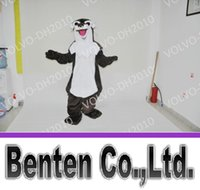 bank costumes - VO309 Professional Custom Otter mascot Cartoon Costume Bank Beaver River Otter Theme Anime Furs uit Costumes Fancy Dress Halloween Costume