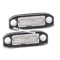 Wholesale 2x smd led license Plate light auto accessories Car styling for Volvo V60 XC60 S60 V70 XC70 V50 C70 S40 XC90 S80 Led License Plate LIGHT