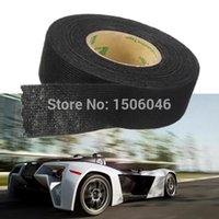 Wholesale 25mmx10m Universal Flannel fabric Cloth Tape automotive wiring harness flannelet glue high temperature tape