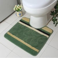 Wholesale U Shape Toilet Mats Bathroom Anti slip Rugs