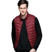 Wholesale Fall Autumn Winter man Duck Down Vest Ultra Light Jackets Men Fashion Sports Outerwear Coat