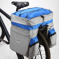 Wholesale ROSWHEEL L Waterproof Bicycle Bag Panniers Double Side Rear Rack Tail Seat Trunk Bag Pannier with Rain Cover Bike Bags