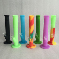 accessories for glasses - New Arrival silicone water pipe with eight colors for choice glass bongs glass pipe smoking water pipe with glass accessories