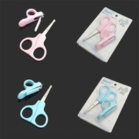 Wholesale New Lovely Mini Baby Nail Care Practical Clipper Trimmer Blue Pink Convenient Daily Baby Nail Care Set