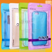 Wholesale 109 mm Colorful Self Seal Zipper Plastic Retail Packaging Bag Zip Lock Bag Retail Hang Hole For iPhone S S via DHL