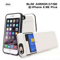 best iphone case for pocket - Best Selling Slim armour hybrd case for Apple iPhone with card slots cell phone case