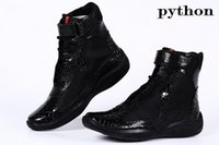b cup - Fashion Italian Mens High top Casual Shoes America Cup Sneakers Cheap Men s Black Patent Leather Python Boots For Men Many Colors