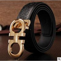 Wholesale 4 Designs Genuine Leather Belts Men Metal Smooth Buckle Men s Casual Belts Luxury Fashion Men Waistband Strap Belt CCA4872