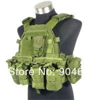 Wholesale military tactical vest molle Military TMC0557 Cordura style Plate Carrier OD w pouches sports vest