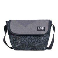 Wholesale Cartoon Black Cat Offset Printing Messenger Bag Nylon Crossbody Shoulder Bag