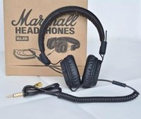 Cheap Marshall Major headphones With Mic Deep Bass DJ Hi-Fi Headphone HiFi Headset Professional DJ Monitor Headphone with retail package DHL FREE