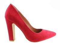 best buy offices - 2016 Fashion Women Office Dress Footwear CM USA Chunky High thick heeled Wedding best buying Ladies New Pumps elegent studed Pointed shoes