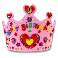 Wholesale Cute D EVA Handmade Crown Craft Gifts Kits Birthday Crown DIY Hat Craft Toy for Children Randon Color K5BO