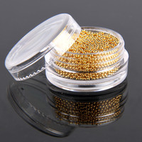 beads nail decor - High Quality Gorgeous Golden Color Cute Bean Fashion Nail Art Tips Micro Caviar Beads Decor Manicure
