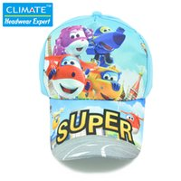 airplane hat - Hot Famous Cartoon Animation Super Wings Airplane Robot Toys Brinquedos Cotton Sport Caps Hat for children Kids Boys Girls Gifts