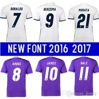 best foot ball - Best Quality reald madrides Jerseys Ronaldos Ball James Benzemas foot home away shirts