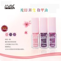 Wholesale Maxdona Nail Polish SET Long Lasting Gradual ChangeMagic Color Color Nail Gel ml DIY Nail Art Quick Dry nail lacqure
