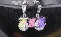 Wholesale HOT New fashion Elegant earrings earrings summer hypoallergenic Earrings smooth zircon jewelry Christmas Halloween present