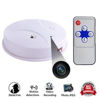 Wholesale HD p Spy Camera Hidden Smoke Detector Motion Detection Recording Cam DVR