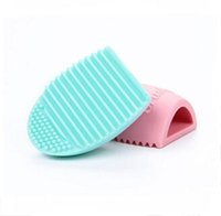 Wholesale Brush Egg Brushegg Silicone Brush Cleaning Egg Brush egg Cosmetic Brush Cleanser Make up Makeup Brush Cleaner Clean tool