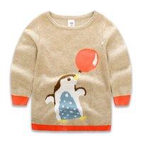 Wholesale 2016 New Autumn Winter Sweet Cartoon Penguin Sweater for Baby Girl Pullover Long Sleeve Sweatshirt Size t t
