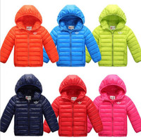 Wholesale 2016 new autumn and winter children s down jacket for boys and girls thin down jacket in the big child warm coat