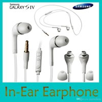Wholesale Earphones mm In Ear Stereo Earphone with Mic and Remote Headphones colorful Headset for Samsung Galaxy S4 Note DHL