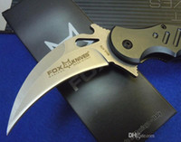 Cheap Hight Quality FOX Karambit Folding Tactical Knives 440C Blade Hunting Camping Survival Pocket Knife Outdoor Tools Free Shipping