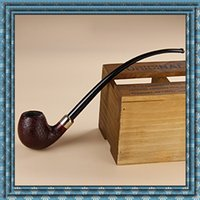Cheap Newest Vauen Briar Bruyere smoking pipe Double cigarette holder Hot plug Long and short handle 925 Silver Ring Men's works of Art DHL free