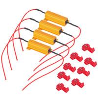 Wholesale 4pcs W Ohm Car LED DRL Fog Turn Singal Load Resistor for Fix LED Bulb Fast Hyper Flash Turn Signal Hot Selling