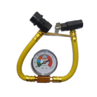 air hose car - R134a Refrigerant Recharge Hose Can Tap Car Air Conditioning Pressure w Gauge acme Bottle Opener Thread Brand New