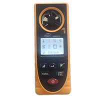 Wholesale Portable Digital Anemometer Multi funcation Mini Air Wind Speed Scale Meter GM8910 Suitable for Measuring Temperature Humidity Data Saving