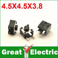 Wholesale PC DIP MM Vertical Tactile Tact Push Button Micro Switch Momentary YXSMDZ379