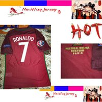 Wholesale player FINAL PEPE RONALDO EDER top thai version jersey customize patch