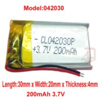Cheap pcs 3.7V 200 mAh Li-polymer rechargeable Battery Lithium 042030 for MID PDA bluetooth mp3 mp4 reader headset free shipping Rechargeable B...