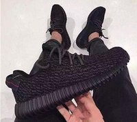 Cheap (With Origina Box)l Yeezy Boost 350 Pirate Black Low Sport Running Shoes Women and Men Footwear Shoes Training Boots Accepted dropshipping