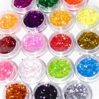 Wholesale Colors Tiny Hexagonal Flake Glitter Powder Dust Acrylic Nail Art DIY Decor New Arrival Promotion