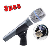 Wholesale 3PCS Real Condenser BETA87A Top Quality Beta A Handheld Mic Supercardioid Condenser Vocal Microphone With Amazing Sound