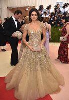 aline prom dress - nina dobrev aline short sleeve embroidery flower luxury met gala Red Carpet Dresses black girl prom dresses plus size evening dresses