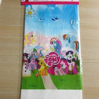 Wholesale my little pony plastic printing tablecloth cm party tablecover