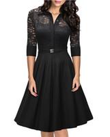 Wholesale 2016 Black Sexy Women Dress Short Dress Prom Evening Dress Lace High Waist A line Slim Dresses