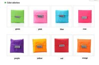 Wholesale 2016 Christmas gift Candy colorful Japan Baggu Reusable Eco Friendly Shopping Tote Bag bags pouch Environment Safe Go Green fedex