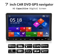 Wholesale 2din New universal Car Radio Double din Car DVD Player GPS Navigation In dash Car PC Stereo video Free Map Car Electronics