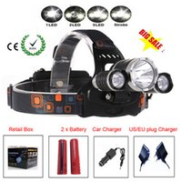 Wholesale Boruit Headlamp Cree XML T6 Lumens Mode LED Headlight Led USB Power bank Rechargeable Hunting Lamp Head Light Charger