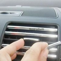 Wholesale 1Pcs Car Chrome Moulding Trim Strip Air Condition Vent Switch Grille Rim Hot
