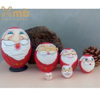 Wholesale Matryoshka Nesting Dolls made in style of Santa Claus For Home Decor Christmas Gift
